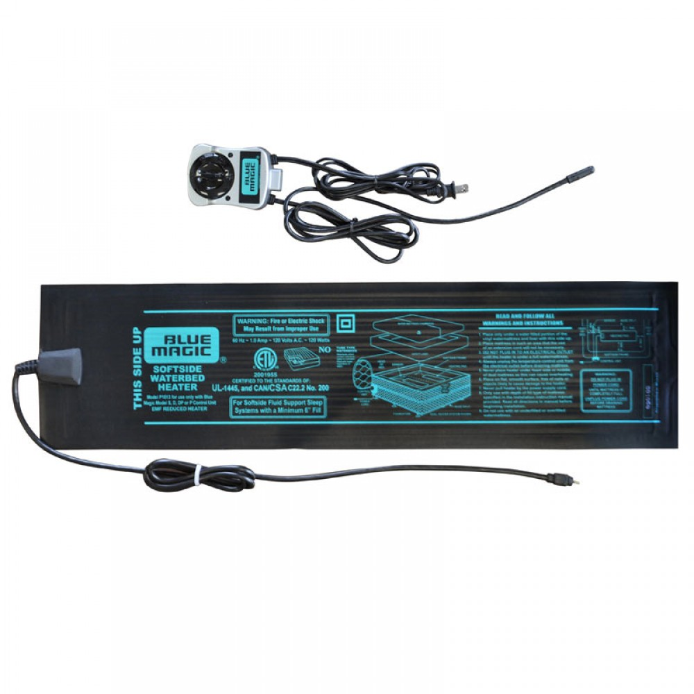 Low watt softside waterbed heater